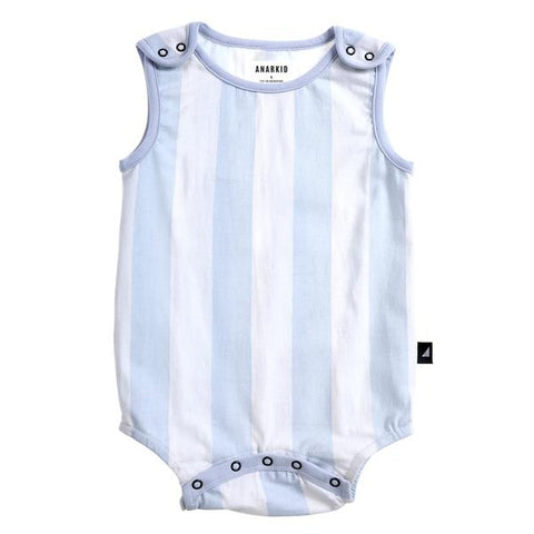 S18 Anarkid Block Stripe Playsuit White