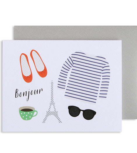 Bonjour Card - My Messy Room