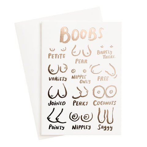 Boobs Card