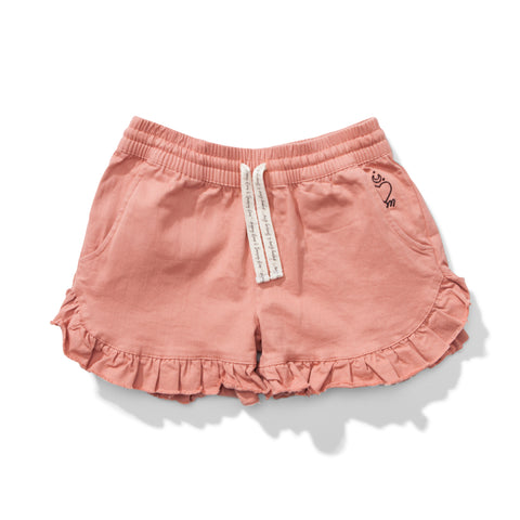 S18 Missie Munster Candy Cotton Twill Short - Washed Rose (Drop 3)