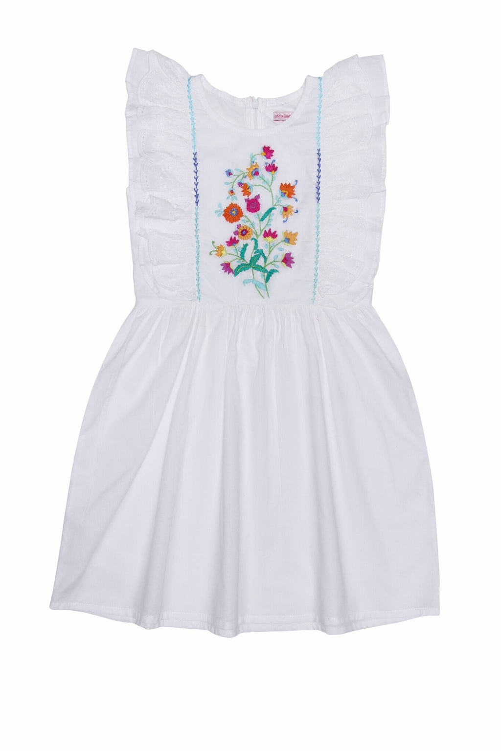 S18 Coco And Ginger Viola Dress Eggshell with Hand Stitch