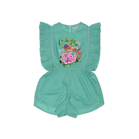 S18 Coco And Ginger (Baby) Delphine Sunsuit Mint with Embroidery