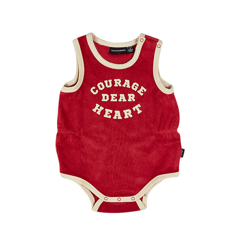 S18 Rock Your Baby Courage Dear Singlet Bodysuit
