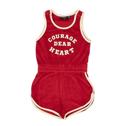 S18 Rock Your Kid Courage Dear Singlet Romper