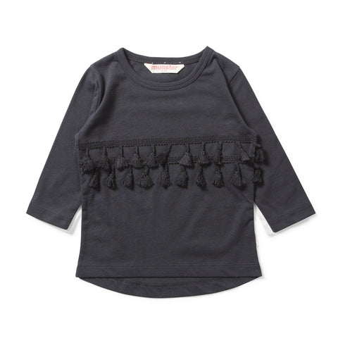 Missie Munster W17 Daisy Chain LS Tee - Soft Black