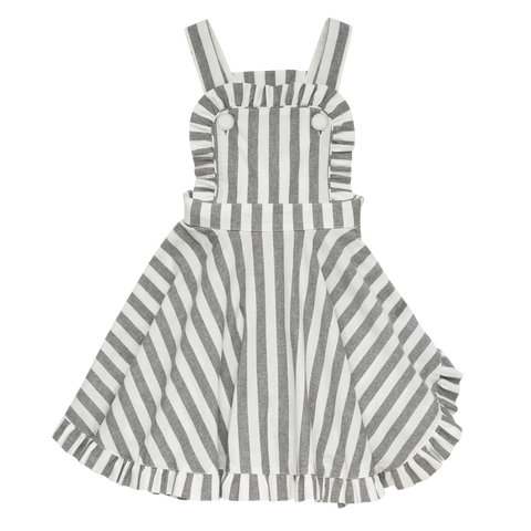 S18 Rock Your Kid Stripe Audrey Dress - Black (Pre-Order)