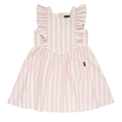 S18 Rock Your Kid Stripe Babette Dress - Light Pink (Pre-Order)