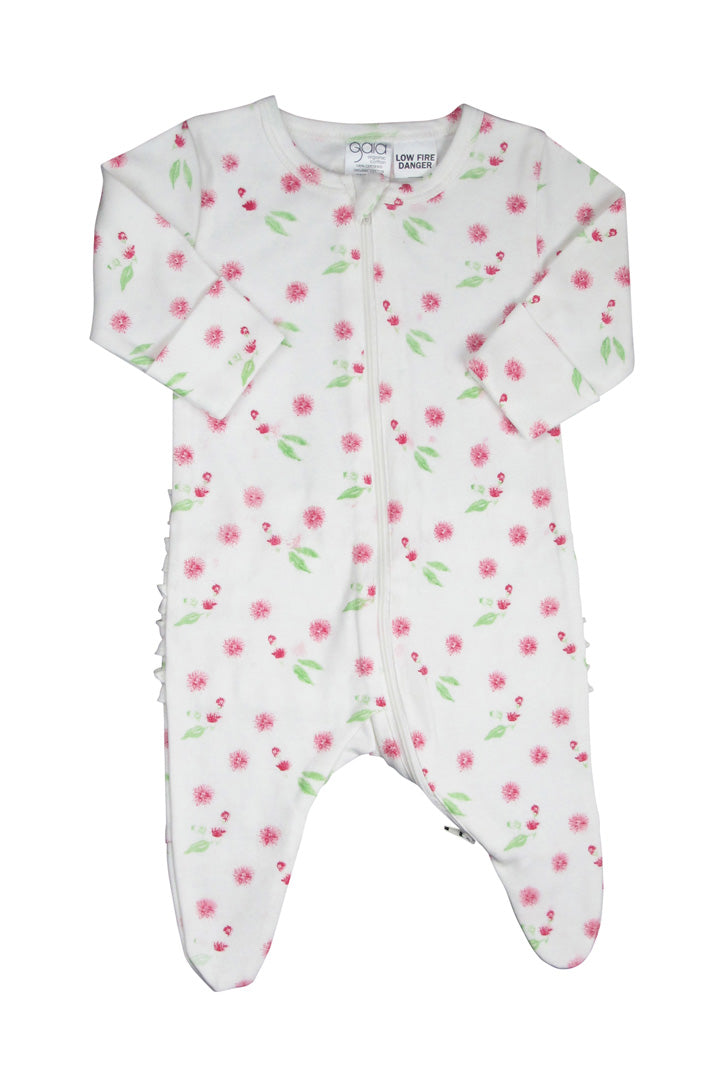 W18 Gaia Organic Cotton Gumnut Ruffle Bottom Onesie