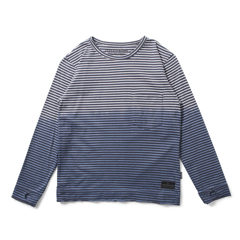Munster Kids W17 Halfway LS Tee - Black/White Stripe - My Messy Room