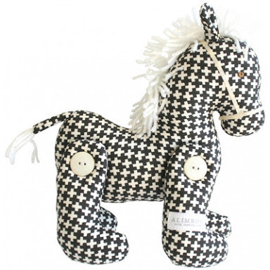 Alimrose Jointed Toy Pony -  Charcoal Cross
