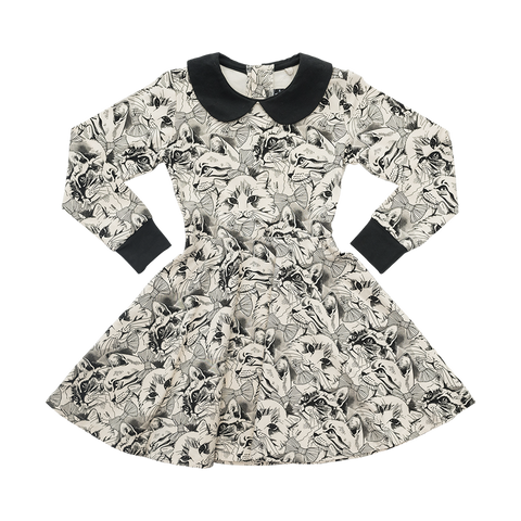 Rock Your Kid W17 Kittens and Bows Waisted Dress