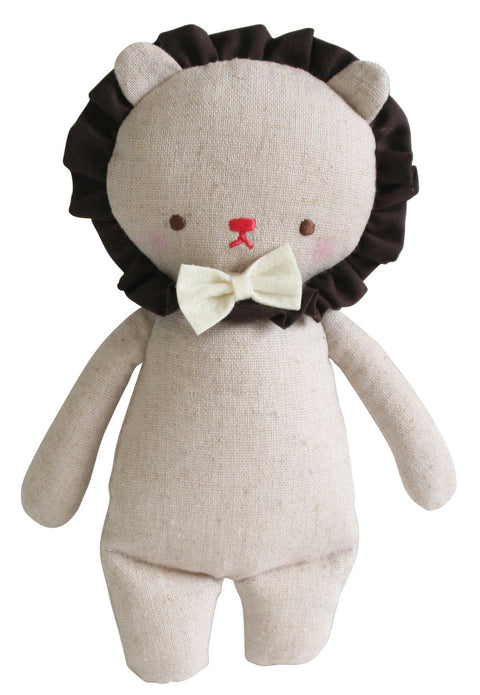 Alimrose Linen Mini Rattle - Lion