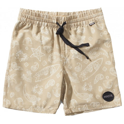 S18 Munster Kids Surfaisley Boardshort - Khaki (Drop 2)
