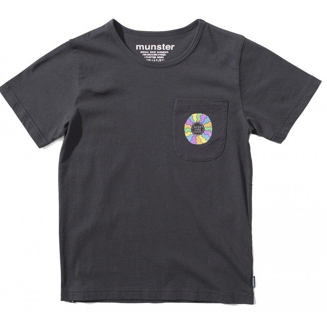 S18 Munster Kids Good Vibe Tee - Soft Black (Drop 2)