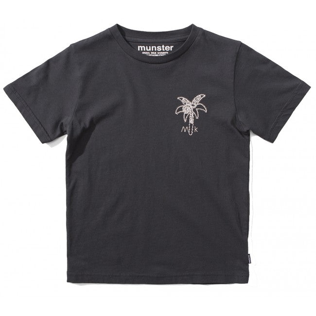 S18 Munster Kids Palm Paisley Tee - Soft Black (Drop2)