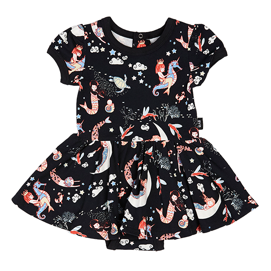 S18 Rock Your Baby Mermaid Lullaby SS Waisted Dress