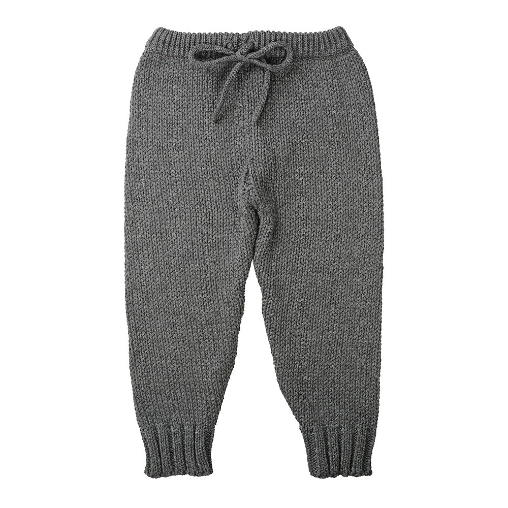 W18 Minouche Knit Leggings - Charcoal