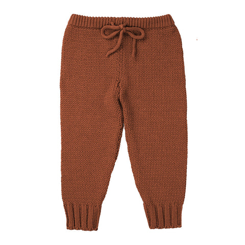 W18 Minouche Knit Leggings - Terracotta