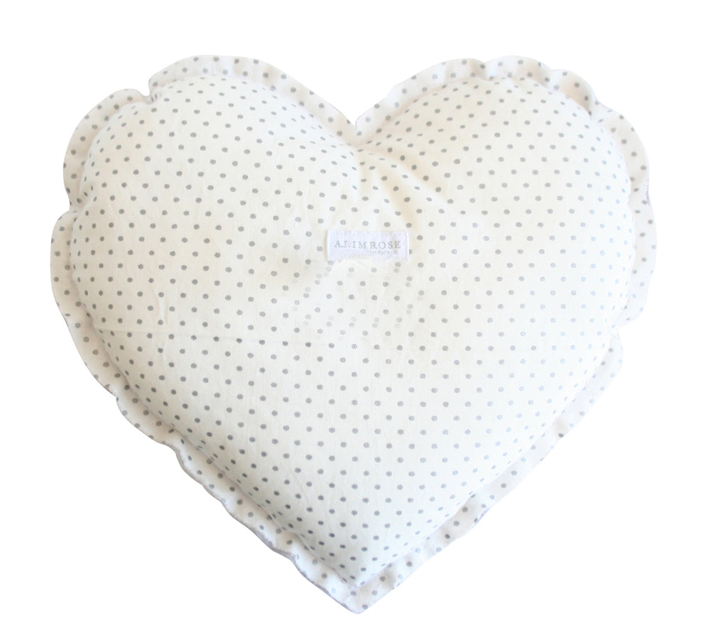 Alimrose Heart Cushion - Lavender Grey