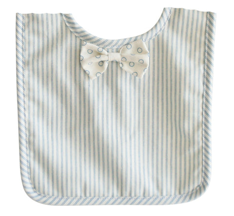 Alimrose Bow Tie Bib Ticking Stripe
