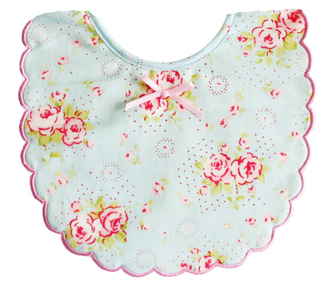 Alimrose Scallop Edge Bib Blue
