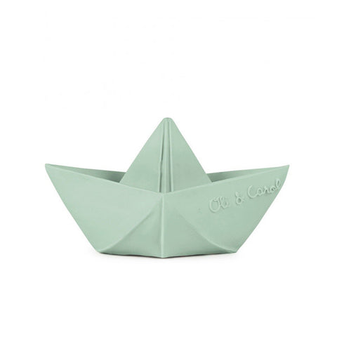 Oli and Carol Origami Boat Teether Bath Boxed - Mint