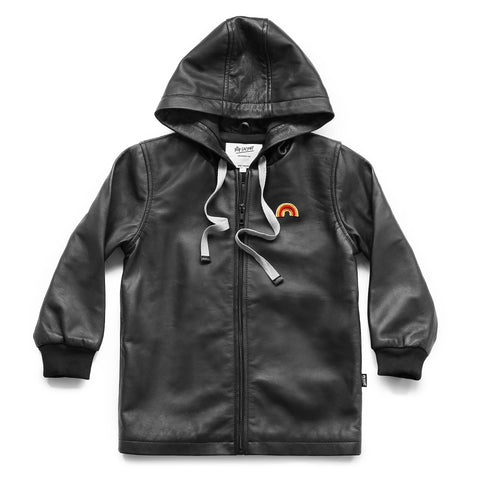 Pop Factory Shop W17 Rainbow Leather Parka