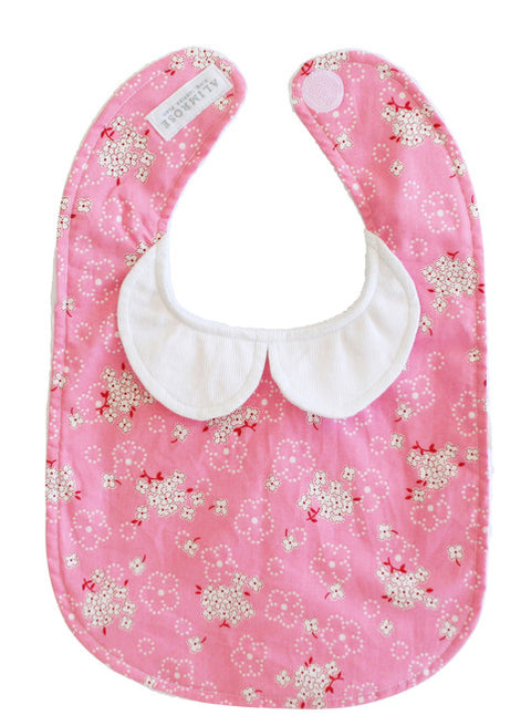 Alimrose Peter Pan Collar Bib - Pink Bouquet