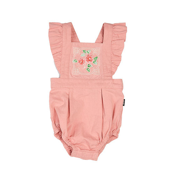 S18 Rock Your Baby Pink Rose Baby Romper