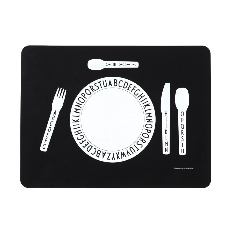 Design Letters Arne Jacobsen Placemat - Kids - My Messy Room