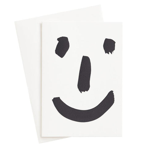 The Adventures Of. Happy Face Letterpress Card