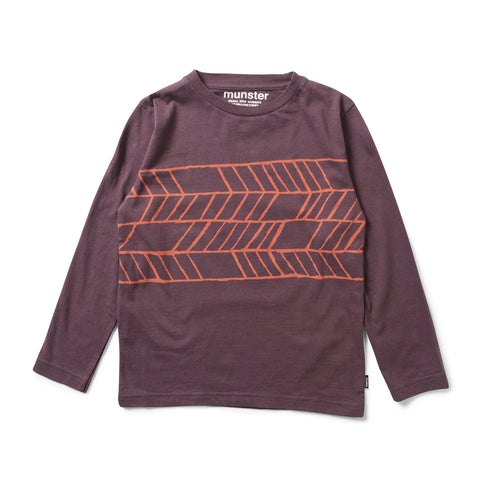 Munster Kids W17 Riders LS Tee - Grape