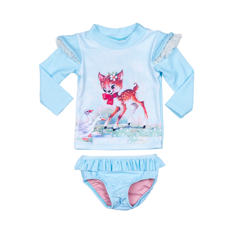 S17 Rock Your Baby Doe and Deer Baby Rashie Set