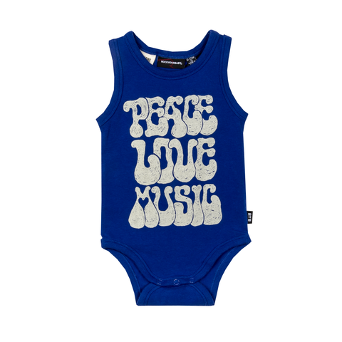 S17 Rock Your Baby Peace Singlet Bodysuit
