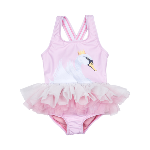 S17 Rock Your Baby Swan Lake Baby Tulle One Piece