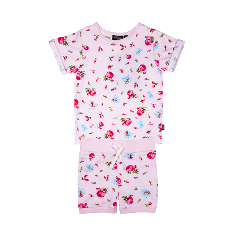 S17 Rock Your Kid Rose Garden PJ Set