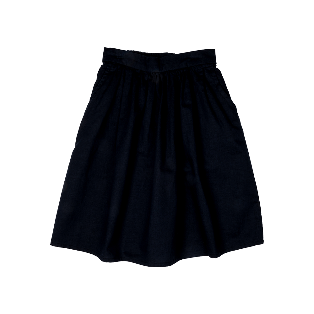 W18 Rock Your Kid Linen Maxi Skirt - Black