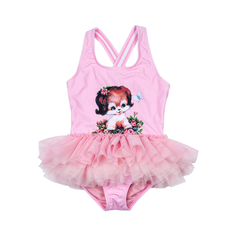 S17 Rock Your Kid Puppy Love Tulle One Piece