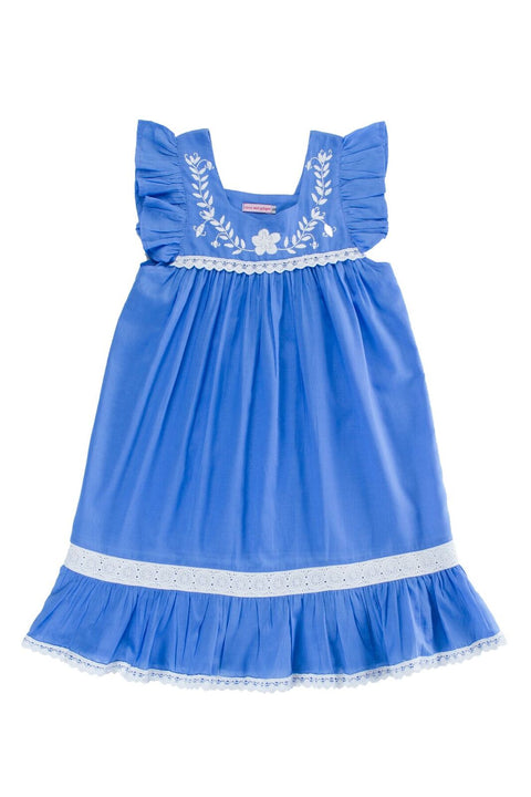 S17 Coco and Ginger Iris Dress Periwinkle with Hand Stitch (Pre-Order)