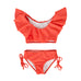 S18 Peggy Freida 2 Piece Swimsuit - Hot Coral