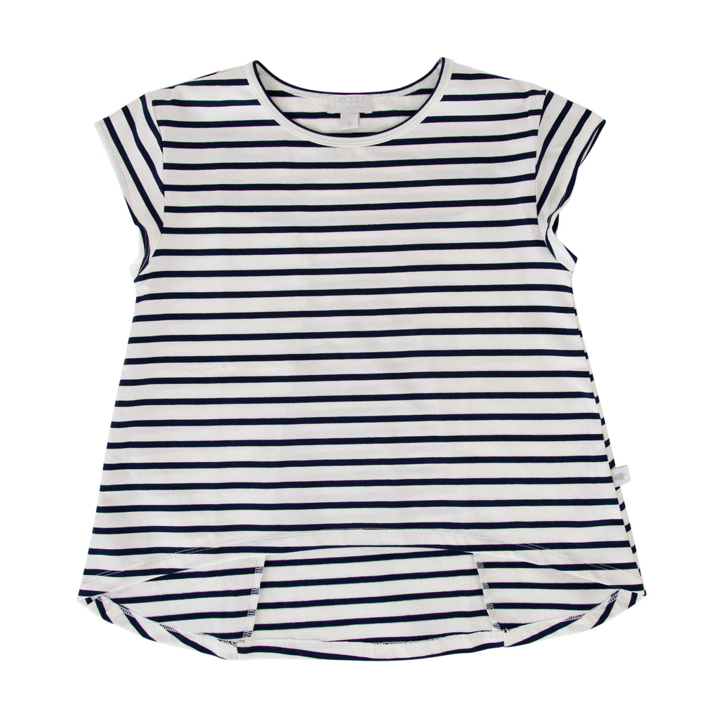 S18 Peggy Kit Tee - Navy Stripe (Tween)
