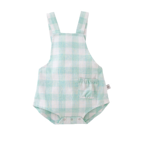 S18 Peggy Saskia Playsuit - Mint Check