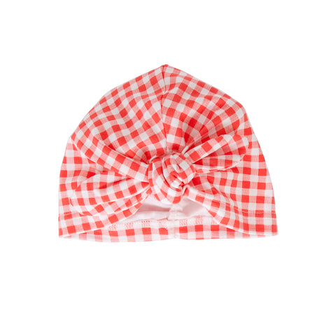 S18 Peggy Vincy Turban - Red Gingham
