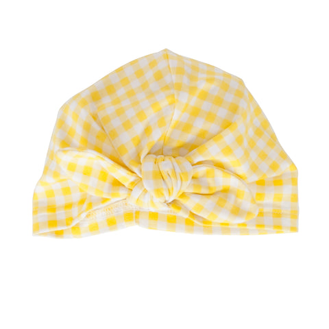 S18 Peggy Vincy Turban - Yellow Gingham (Pre-Order)