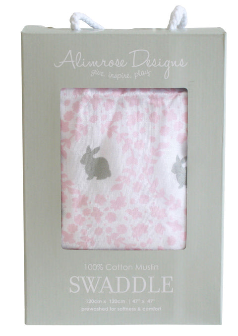 Alimrose Swaddle - Floral Bunny