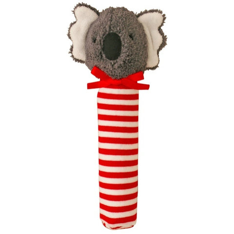 Alimrose Designs Koala Stripe Red Hand Squeaker - My Messy Room