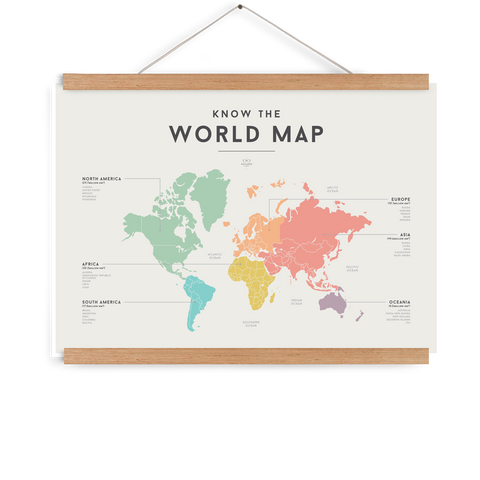 Squared World Map Chart