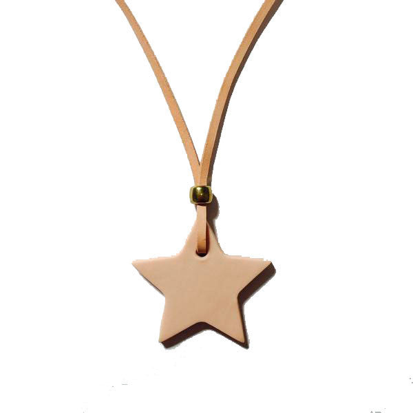 Revival of Ivy Star Necklace on Leather