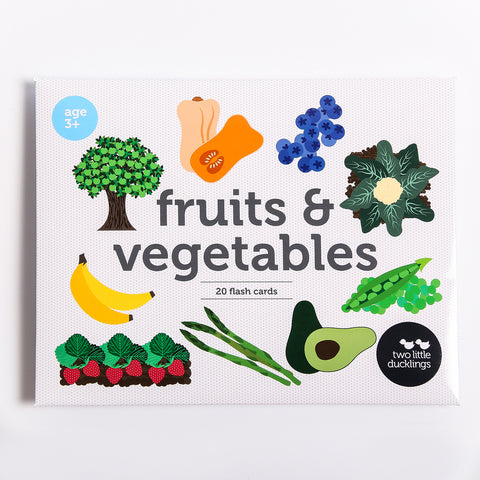 Two Little Ducklings Fruit and Vegetables Flash Cards