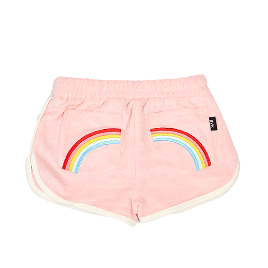 S18 Rock Your Kid Terry Towelling Shorts - Musk Pink